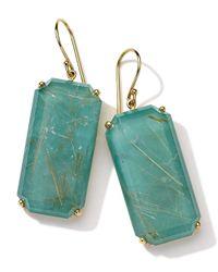Ippolita - Blue 18k Gold Rock Candy Gelato Large Emerald-cut Earrings - Lyst