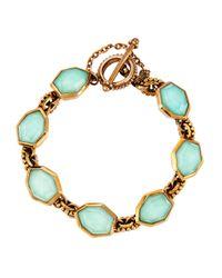 Stephen Dweck Blue Galactical Bronze Bracelet