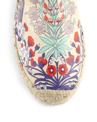 Marc By Marc Jacobs - Multicolor Floral print Leather Espadrille Flats - Lyst