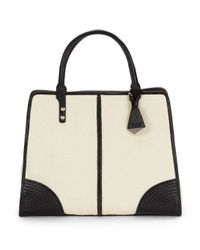 Rebecca Minkoff | Natural Sienna Leathertrimmed Straw Tote Bag | Lyst
