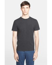Norse Projects - Gray 'Niels' Stitched Logo T-Shirt for Men - Lyst
