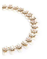 J.Crew | White Flower Stone Necklace | Lyst