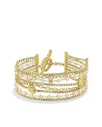 David Yurman | White Starburst Chain Bracelet With Pearls In Gold | Lyst