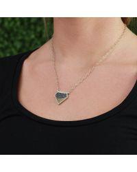 Monique Péan Black Fossilized Dinosaur Bone Necklace