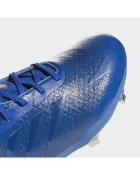 Adidas Blue Adizero Afterburner V Dipped Cleats for men