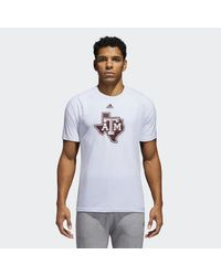 Adidas White Texas A&m Tee for men