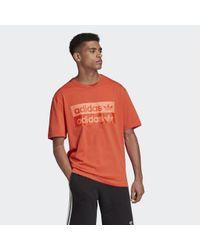 T-shirt R.Y.V. Graphic di Adidas in Red da Uomo