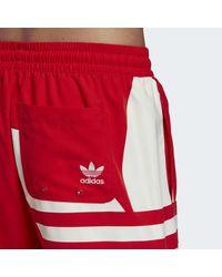 Short Big Trefoil Swim Adidas pour homme en coloris Red