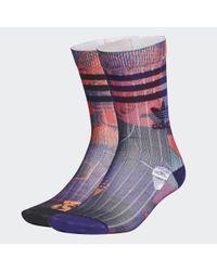 Adidas Purple CNY Crew Socken, 2 Paar