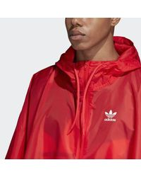 Adidas Red Trefoil Poncho for men