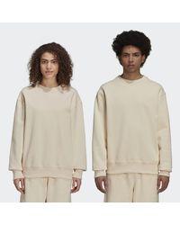 Adidas Natural Pharrell Williams Basics Crew Sweatshirt (gender Neutral)