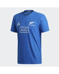 Adidas All Blacks Rugby World Cup Y-3 Performance T-Shirt in Blue für Herren