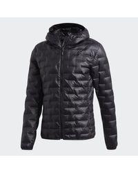 Adidas Black Terrex Light Down Jacket for men