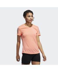 Adidas Pink Own The Run Tee