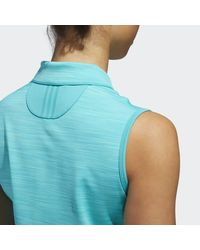 Adidas Blue Ultimate365 Sleeveless Polo Shirt