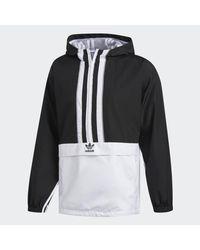 Adidas Black Authentics Windbreaker for men