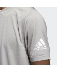 Camiseta FreeLift Daily Press Adidas de hombre de color Gray