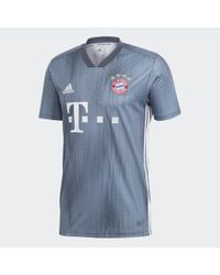 Maglia Third FC Bayern München di Adidas in Blue da Uomo