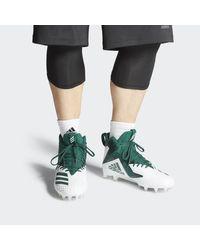 Adidas White Freak X Carbon Mid Cleats for men