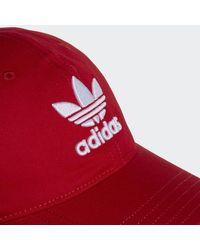 Adidas Red Trefoil Hat