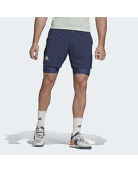 Short Ergo HEAT.RDY Two-in-One Adidas pour homme en coloris Blue