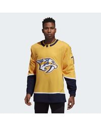 Adidas Yellow Predators Home Authentic Jersey for men