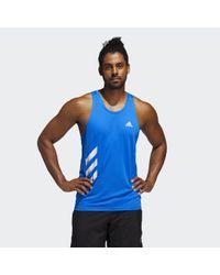 Adidas Own the Run 3-Streifen PB Singlet in Blue für Herren