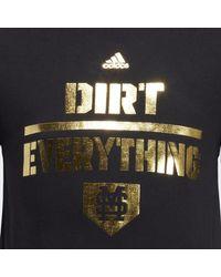 Adidas Black Bulldogs Dirt Everything Tee for men