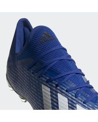 Bota de fútbol X 19.2 césped natural seco Adidas de color Blue