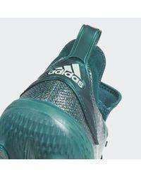Adidas Green Adizero Afterburner V Dipped Cleats for men