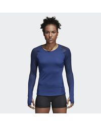 Adidas Blue Alphaskin Sport Printed Tee