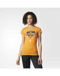 Adidas - Orange Houston Dynamo Tee - Lyst
