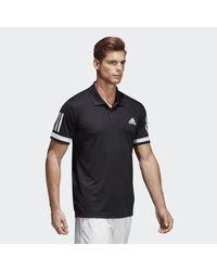 Adidas Black 3-stripes Club Polo Shirt for men