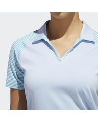 Adidas Blue Ultimate365 Stripe Polo Shirt