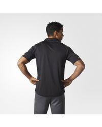 Adidas - Black Penguins Pro Locker Room Polo Shirt for Men - Lyst