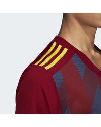 Maillot Striped 19 Adidas pour homme en coloris Red