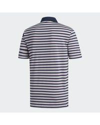 Adidas Blue Ultimate365 3-color Stripe Polo for men