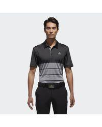 Adidas Gray Ultimate 365 Heather Block Polo Shirt for men