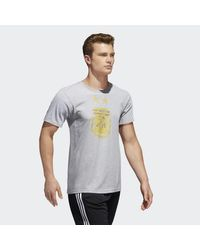 Adidas - Gray Argentina Brushed Stripes Tee for Men - Lyst