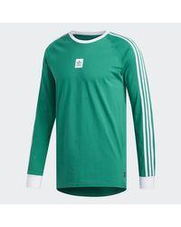 Adidas Adidas Cali BB Longsleeve Tee Bright Green/ White für Herren