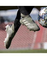 Bota de fútbol Predator 19+ césped natural seco Adidas de color Green