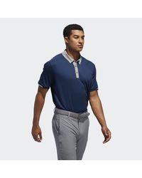 Adidas Blue Climachill Stretch Polo Shirt for men