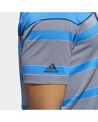 Adidas Blue Ultimate365 Wraparound Polo Shirt for men