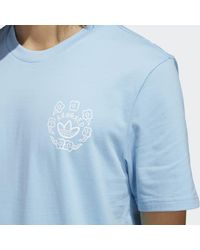Adidas Blue Krooked Tee for men