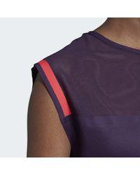T-shirt Escouade Adidas en coloris Purple