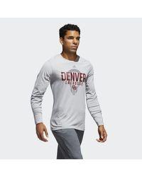 Adidas - Gray Pioneers Lacrosse Tee for Men - Lyst