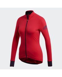 Chaqueta Climaheat Cycling Winter Adidas de color Red
