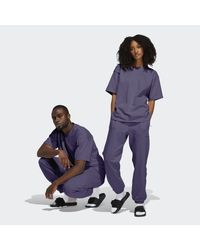 Adidas Purple Pharrell Williams Basics Sweat Pants (gender Neutral)