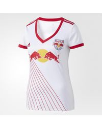 Adidas - White Red Bulls Home Jersey - Lyst