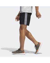 Short Run It 3-Stripes Adidas Originals pour homme en coloris Black